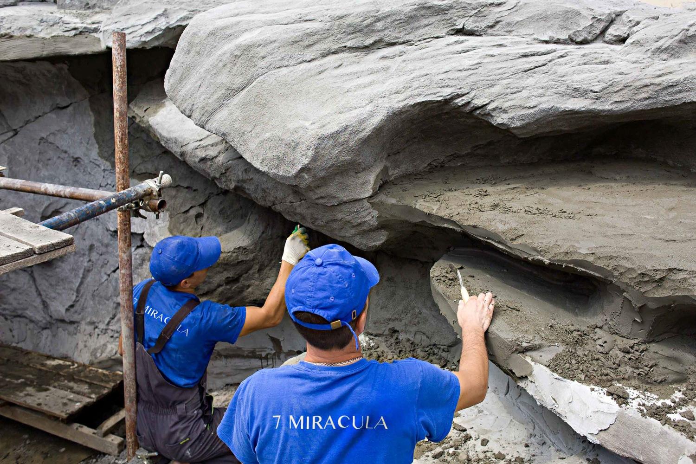 создание камня в декоративном водоеме