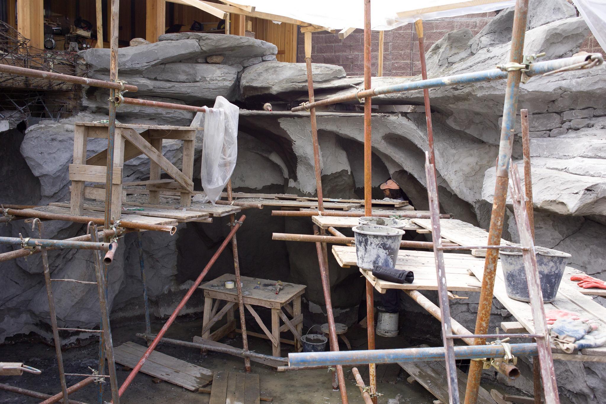 Каркас для создания искусственной скалы