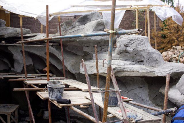 Нанесение цементного раствора