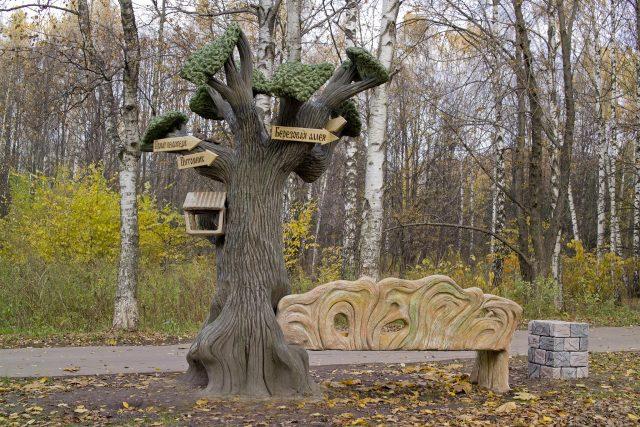 Скульптуры под дерево из бетона