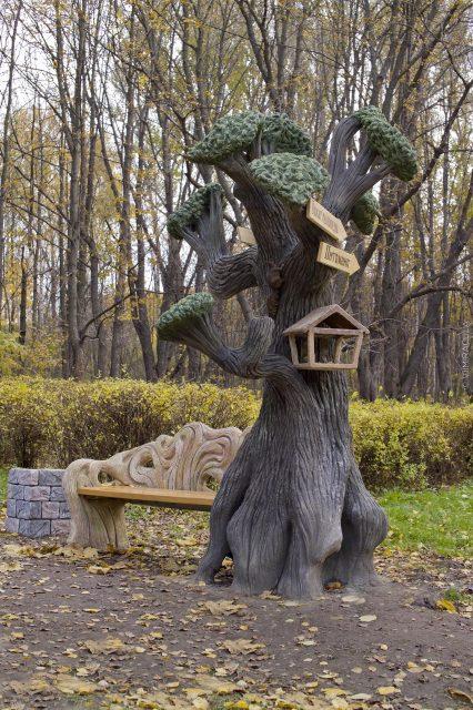 Имитация фактуры древесной коры