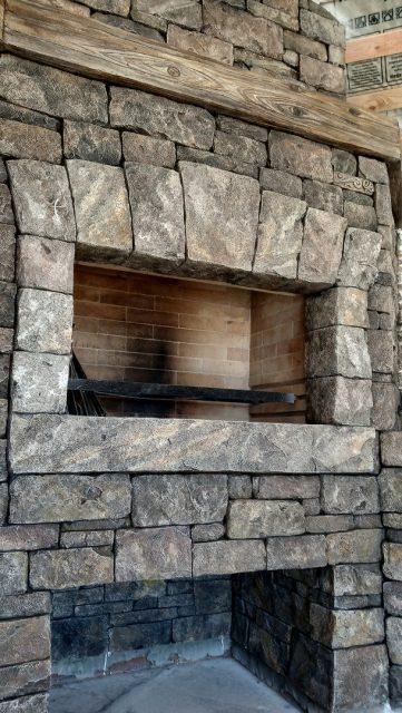 Отделка печи архитектурным бетоном