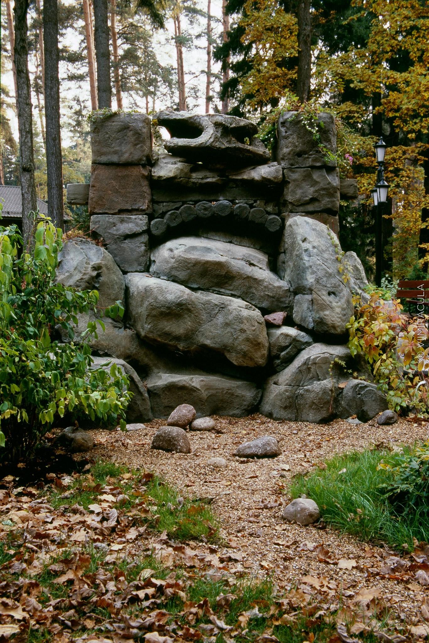 декоративный водопад из бетона