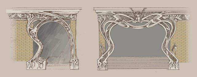 эскиз портала в стиле модерн