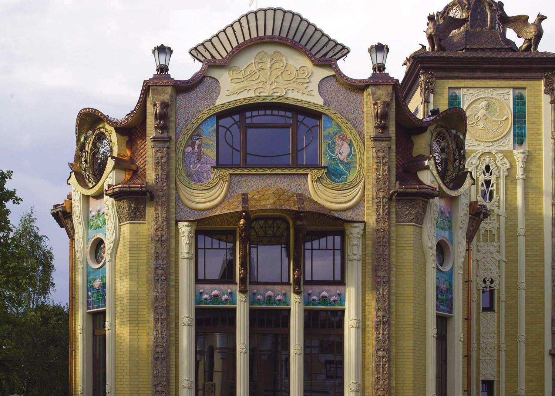 Отделка фасада дома в стиле модерн