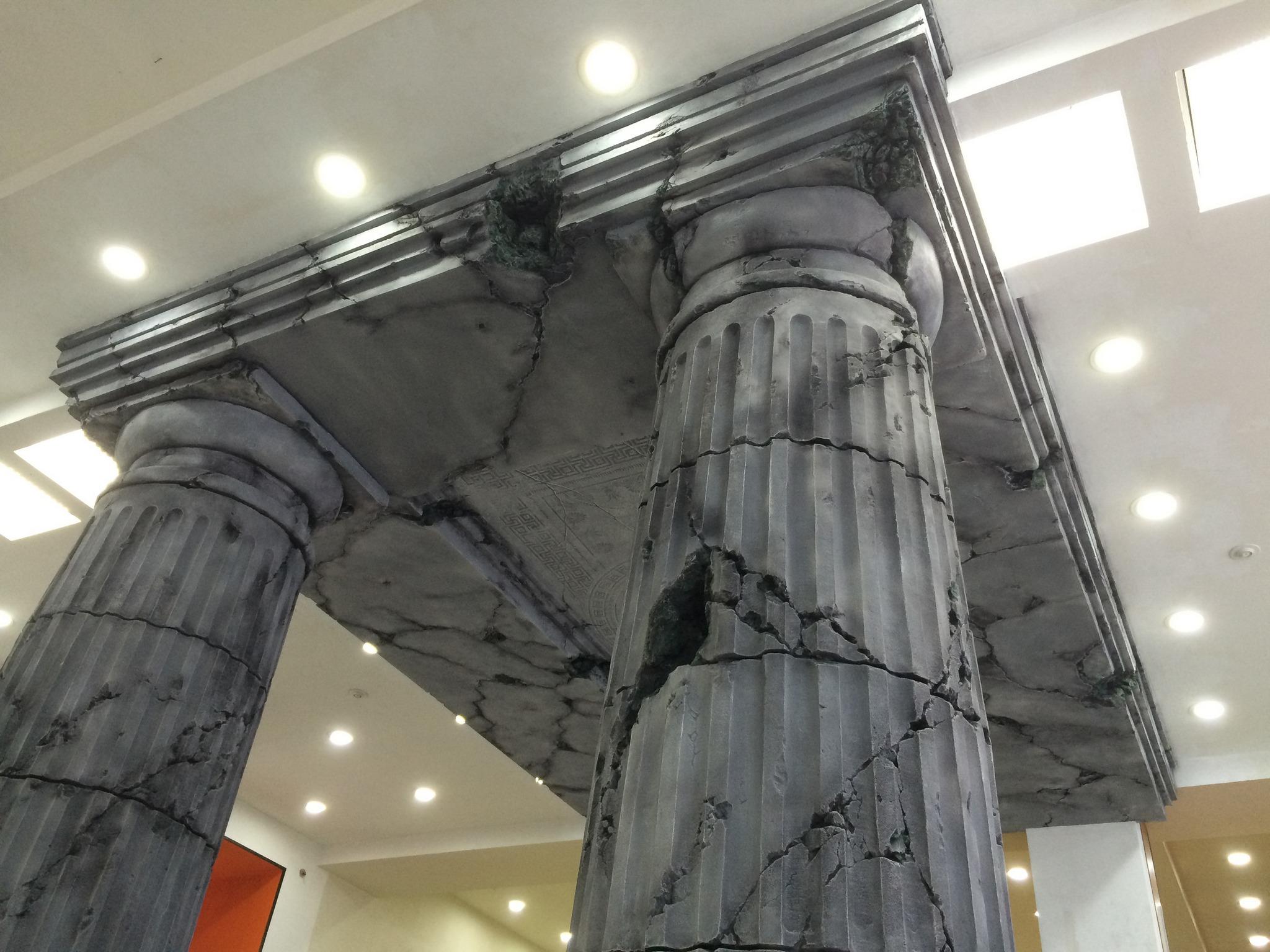 Оформление колонн