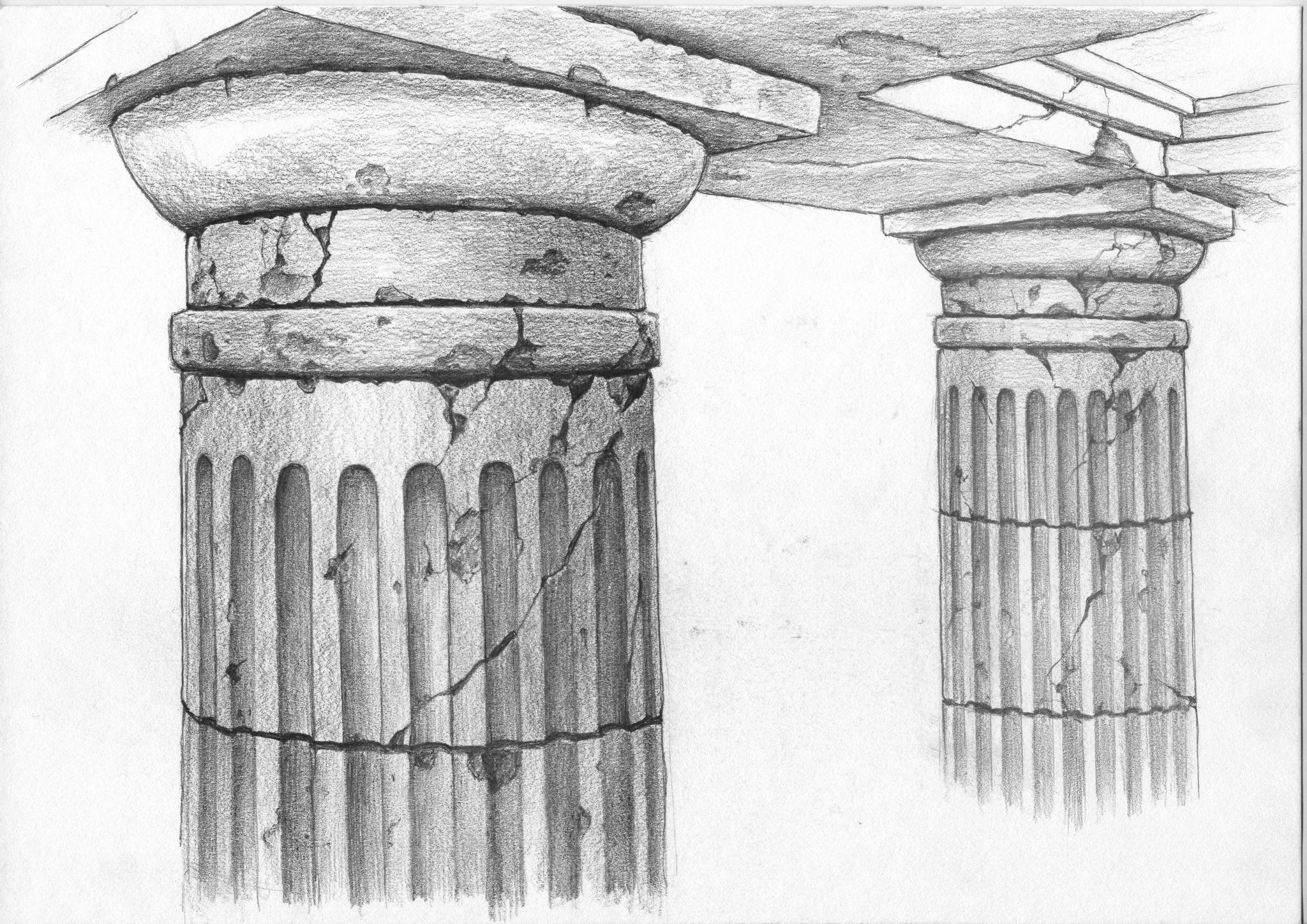 Эскиз колоннады