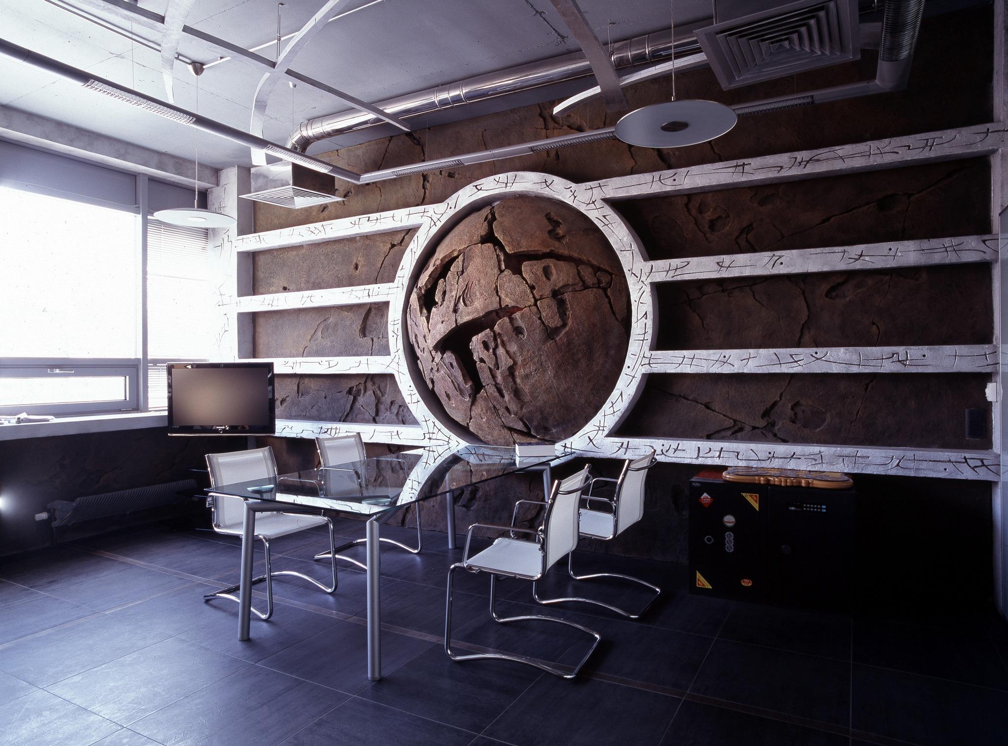 Панно из бетона в японском стиле