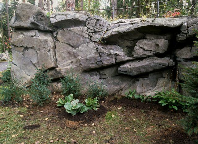 Подпорная стена из камня