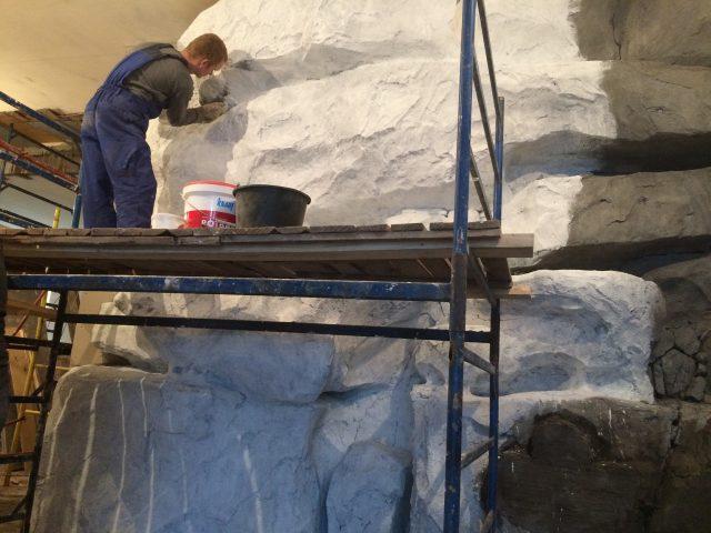 Внутренние работы по отделке бетоном