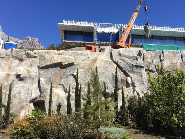 Создание искусственной скалы из архитектурного бетона