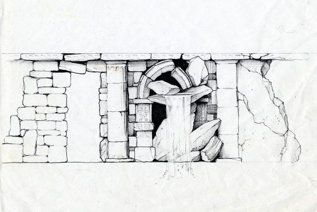 Эскиз стены помещения бассейна